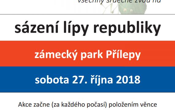 27. října 2018 – Sázení lípy republiky a dalších stromů v parku